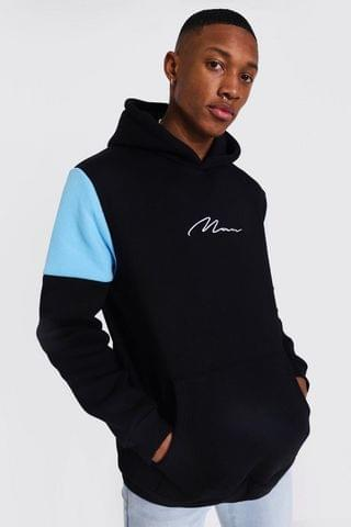 MEN Signature Heavyweight Colour Block Hoodie