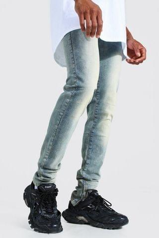 MEN Tapered Stacked Leg Jean With Ankle Zips