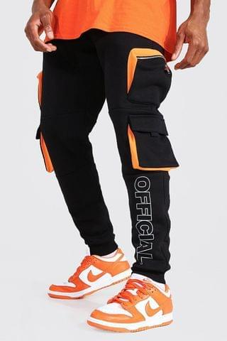 MEN Official Reflective Print Cargo Joggers