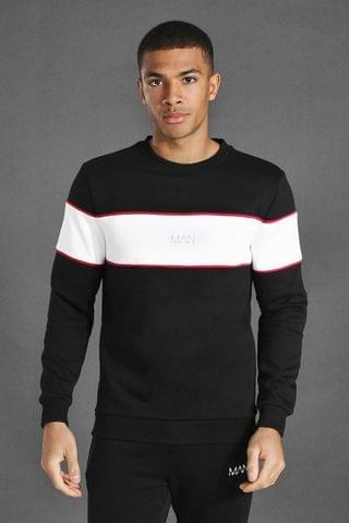 MEN Active Blocked Panel Sweatshirt
