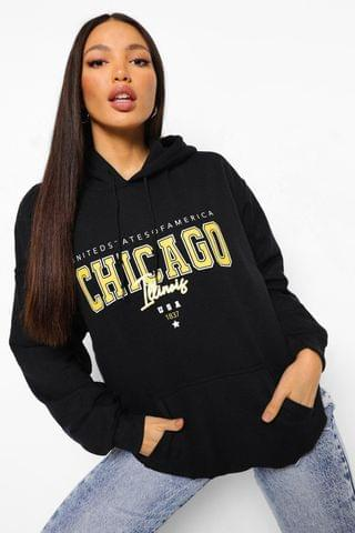 WOMEN Tall Oversized Chicago Hoodie