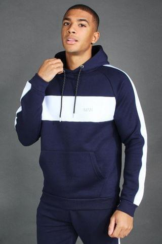 MEN Active Raglan Panelled Hoodie
