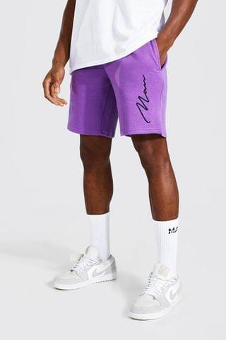 MEN Signature Embroidered Loose Jersey Shorts