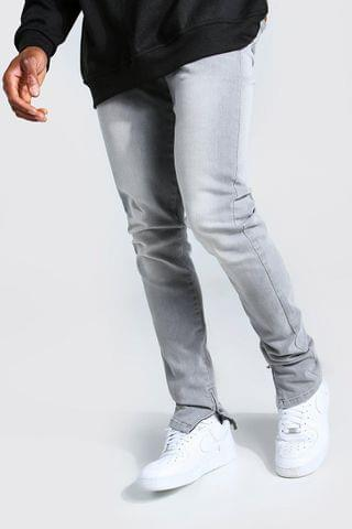 MEN Tapered Stretch Stacked Leg Jean With Ankle Zips