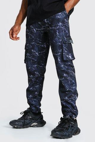 MEN Official Printed Slim Cargo Joggers