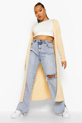 WOMEN Plus Rib Duster