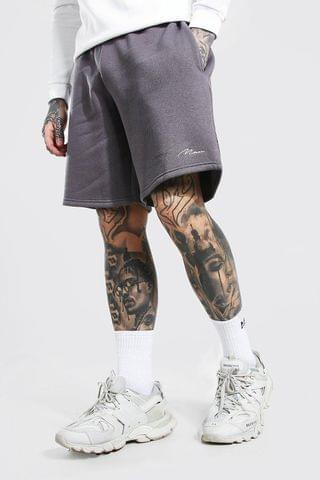 MEN Signature Mid Length Loose Jersey Shorts