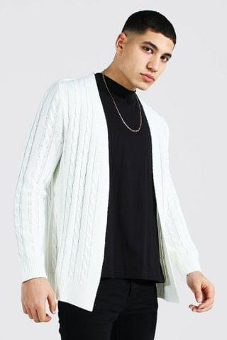 MEN Cable Edge To Edge Knitted Cardigan