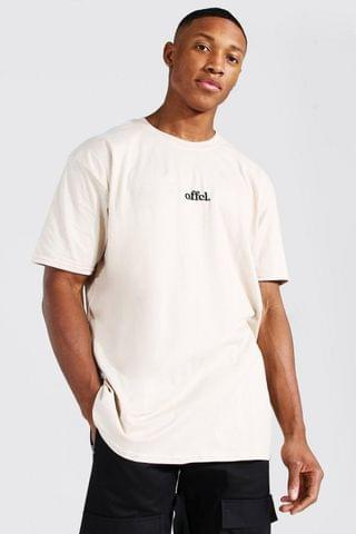 MEN Oversized Official Embroidered T-shirt
