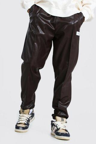 MEN Pu Pintuck Joggers