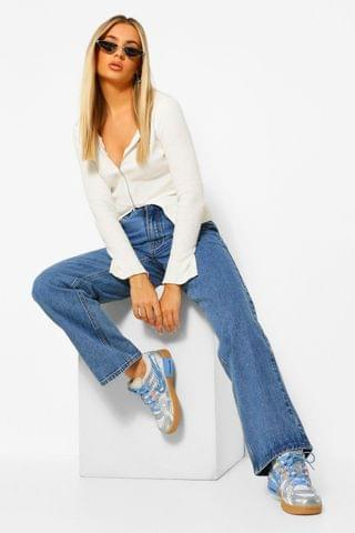 WOMEN Rigid Wide Leg Jean