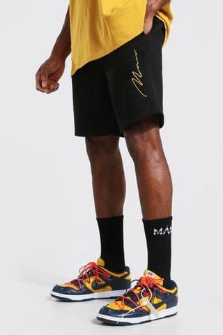 MEN Signature Embroidered Regular Jersey Shorts