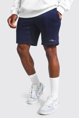 MEN Signature Mid Length Slim Jersey Shorts