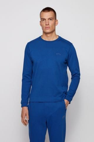 MEN Crew-neck sweatshirt with piqu back panel