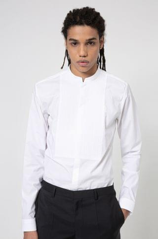 MEN Extra-slim-fit evening shirt with stand collar