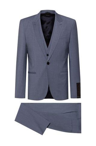 MEN Extra-slim-fit suit in high-performance cloth