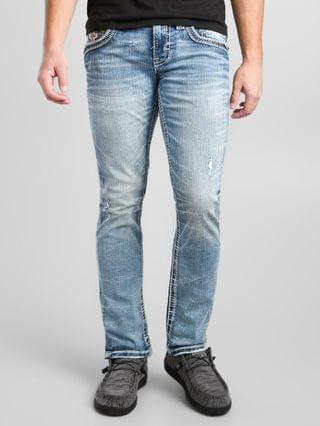 MEN Rock Revival Greyton Slim Straight Stretch Jean