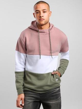 MEN Departwest Color Block Hooded Sweatshirt