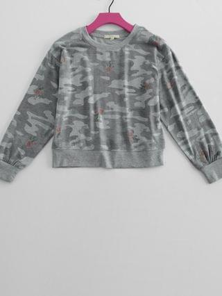 KIDS Z Supply Girls - Aubrey Rose Camo Pullover