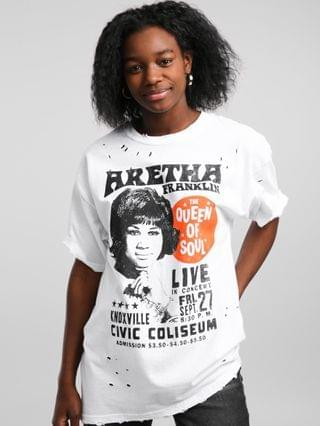 WOMEN Aretha Franklin Queen Of Soul T-Shirt
