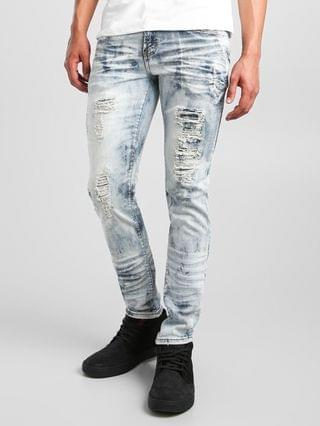 MEN PREME Ice Blue Skinny Stretch Jean
