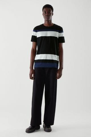 MEN STRIPED COLOR-BLOCK T-SHIRT