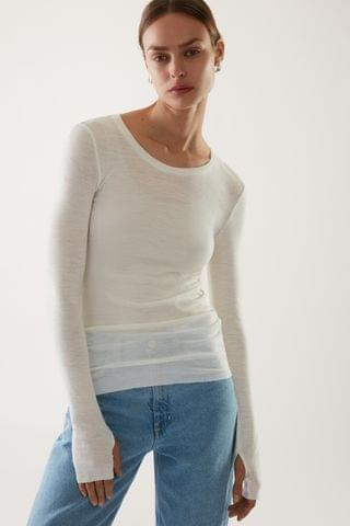 WOMEN LONG-SLEEVED MERINO WOOL TOP