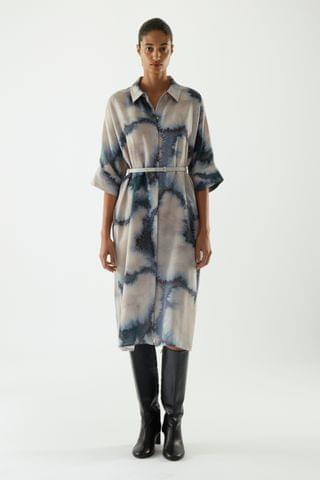 WOMEN OVERSIZED SHIRT DRESS