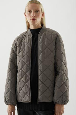 WOMEN RECYCLED POLYESTER REVERSIBLE QUILTED JACKET