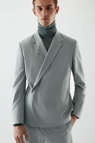 MEN TAILORED WOOL BLAZER