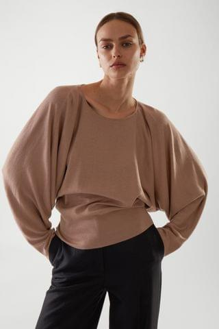 WOMEN BATWING MERINO WOOL TOP