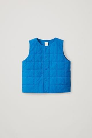 KIDSS CHECK QUILTED PADDED GILET