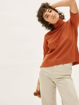 WOMEN The Cotton Merino Turtleneck Tee