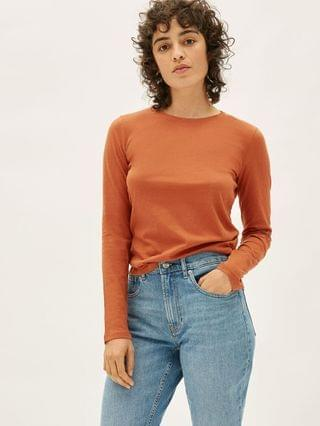 WOMEN The Organic Cotton Long-Sleeve Crew
