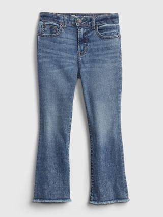 KIDS High-Rise Ankle Flare Jeans with Stretch
