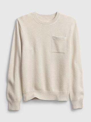 KIDS Pocket Crewneck Sweater