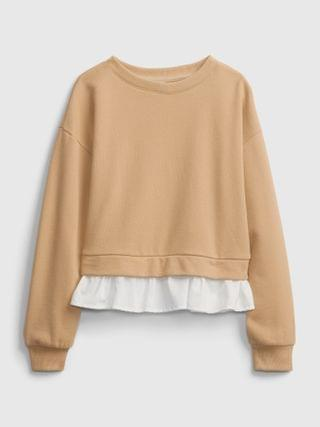 KIDS Ruffle Trim Sweatshirt