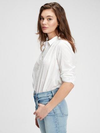 WOMEN Pleated Popover Top