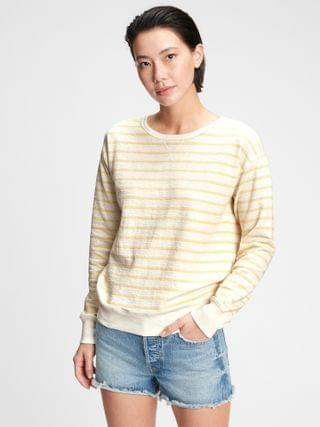 WOMEN Textured Crewneck Sweatshirt