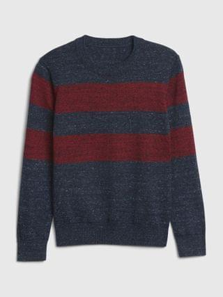 KIDS Stripe Crewneck Sweater