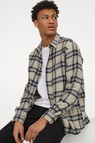 MEN Cotton Flannel Shirt