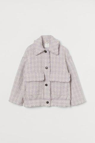WOMEN Textured-weave Jacket