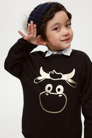 KIDS Fine-knit Cotton Sweater