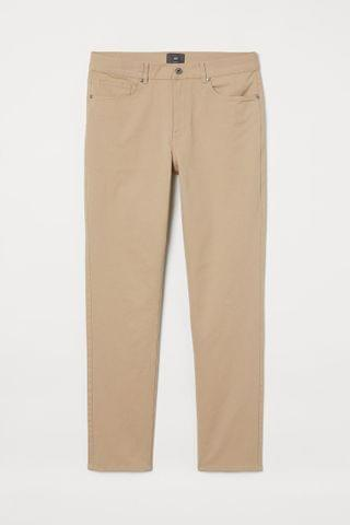MEN Slim Fit Twill Pants