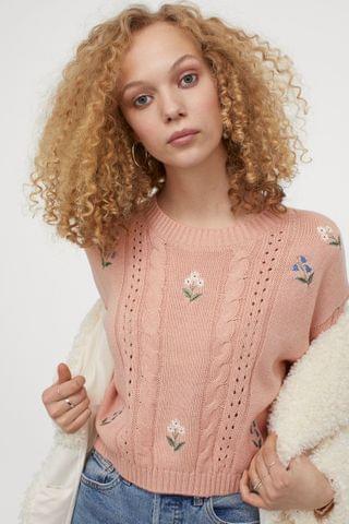 WOMEN Embroidered-detail Sweater