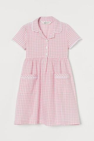 KIDS Checked Cotton Dress