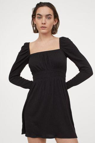 WOMEN Short Puff-sleeved Dress