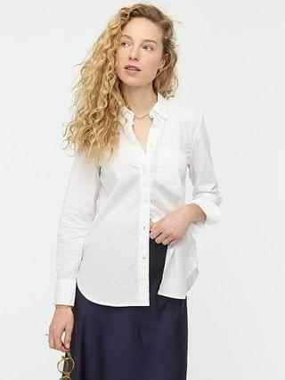 WOMEN Classic-fit washed cotton poplin shirt