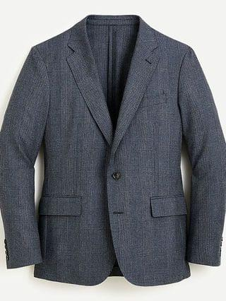 MEN Ludlow Slim-fit unstructured suit jacket in English cotton-wool