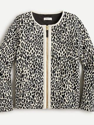 KIDS Girls' quilted jacket in leopard print